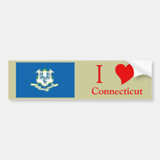 Connecticut State Flag Bumper Stickers