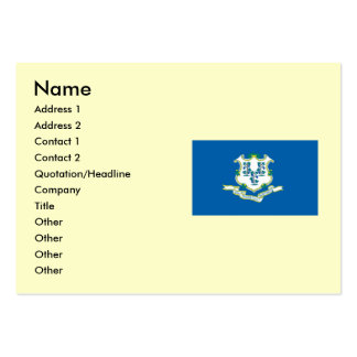 Connecticut State Flag Large Business Cards (Pack Of 100)