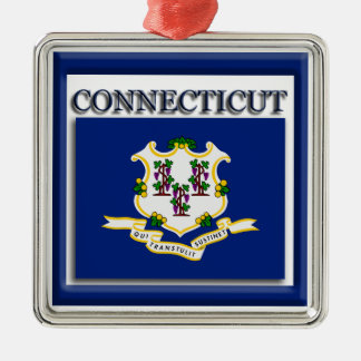 Connecticut State Flag Christmas Ornament