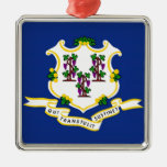 Connecticut State Flag Christmas Ornaments