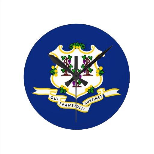 Connecticut State Flag Clock
