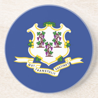 Connecticut State Flag Coasters