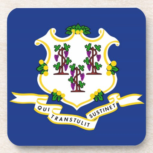 Connecticut State Flag Drink Coaster