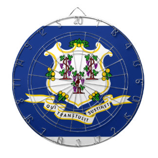 Connecticut State Flag Dartboard