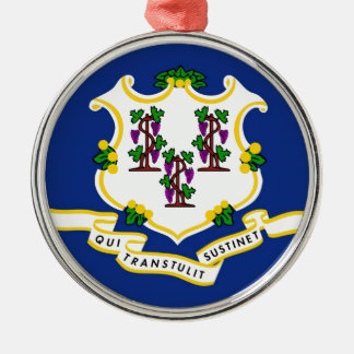 Connecticut State Flag Christmas Tree Ornaments