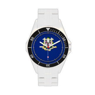 Connecticut State Flag Design Wristwatches