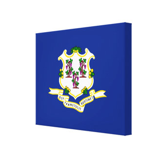 Connecticut State Flag Design Stretched Canvas Print