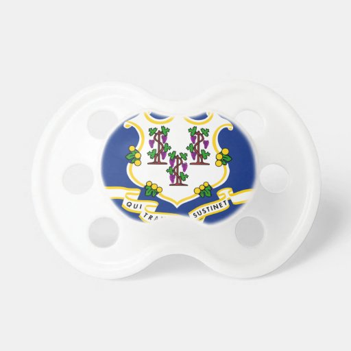 Connecticut State Flag Pacifier