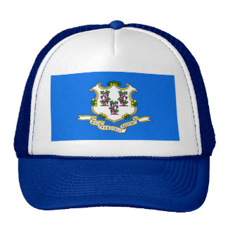 Connecticut State Flag Trucker Hats