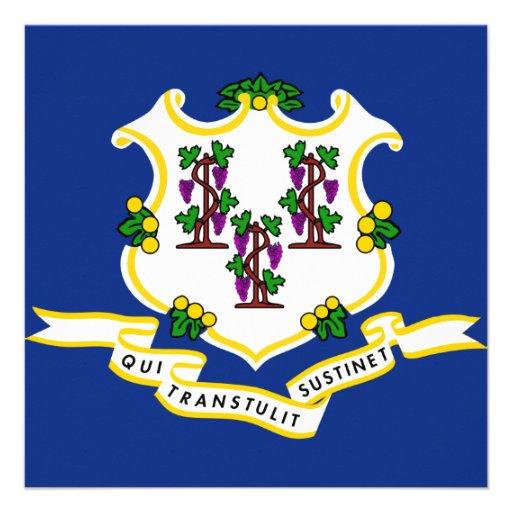 Connecticut State Flag Invites