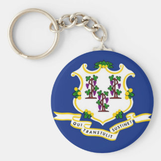 Connecticut State Flag Keychains
