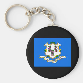 Connecticut State Flag Keychain