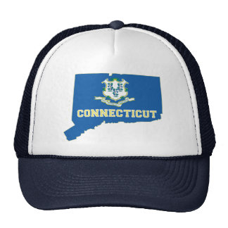 Connecticut State Flag Map Hats