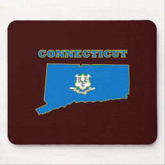 Connecticut State Flag Mousepad