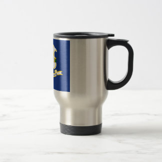 Connecticut State Flag 15 Oz Stainless Steel Travel Mug