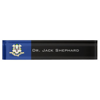 Connecticut State Flag Name Plate