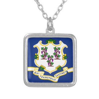 Connecticut State Flag Personalized Necklace