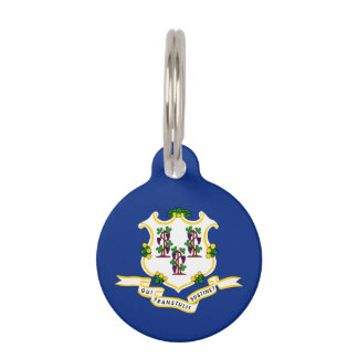 Connecticut State Flag Pet Tag