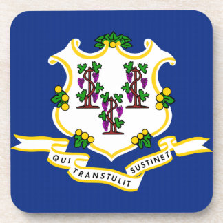 Connecticut State Flag png Drink Coaster