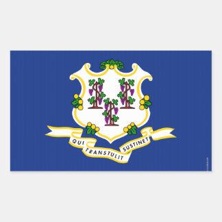 Connecticut State Flag.png Rectangular Sticker