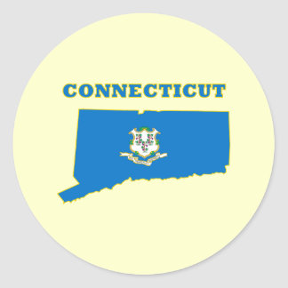 Connecticut State Flag Round Sticker