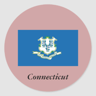 Connecticut State Flag Stickers