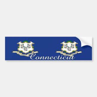Connecticut State Flag Sticker Car Bumper Sticker