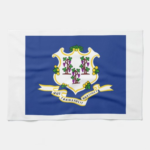 Connecticut State Flag Towels