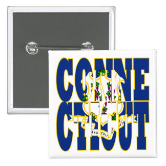Connecticut state flag text buttons