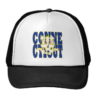 Connecticut state flag text hats