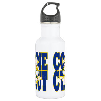 Connecticut state flag text 532 ml water bottle