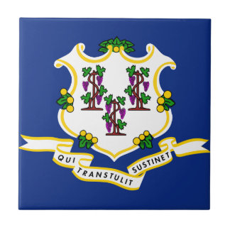 Connecticut State Flag Ceramic Tile