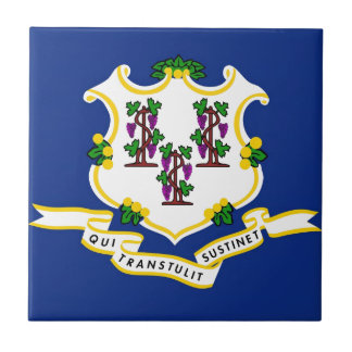 Connecticut State Flag Small Square Tile