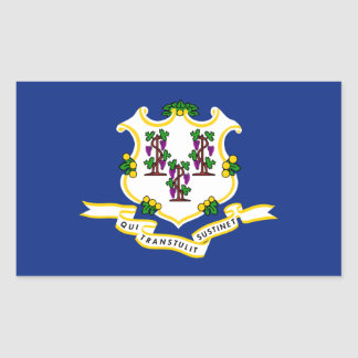 Connecticut State Flag, United States Rectangular Sticker