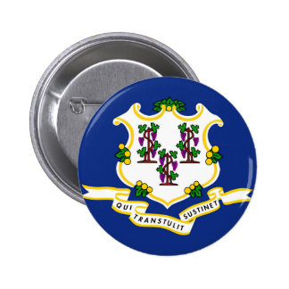 Connecticut state flag usa united america symbol 6 cm round badge