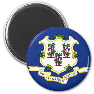 Connecticut state flag usa united america symbol 6 cm round magnet