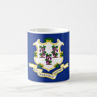 Connecticut state flag usa united america symbol basic white mug