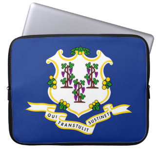 Connecticut state flag usa united america symbol laptop sleeve