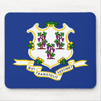 Connecticut state flag usa united america symbol mouse mat