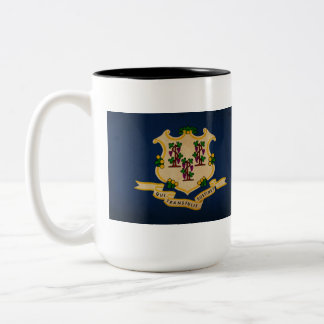 Connecticut State Flag VINTAGE.png Two-Tone Mug