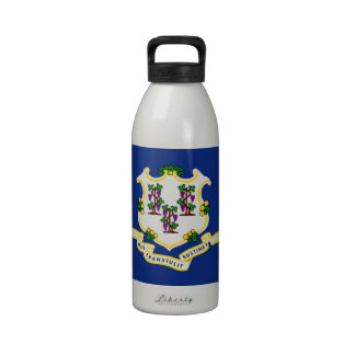 Connecticut State Flag Reusable Water Bottle