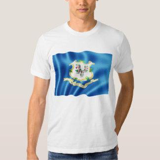 Connecticut State Flag Waving Shirt