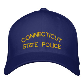 CONNECTICUT, STATE POLICE EMBROIDERED BASEBALL CAP