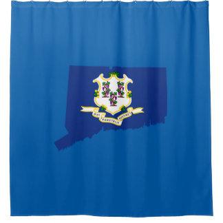 Connecticut state shape flag shower curtain