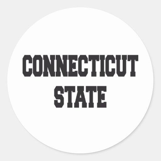 Connecticut state round sticker