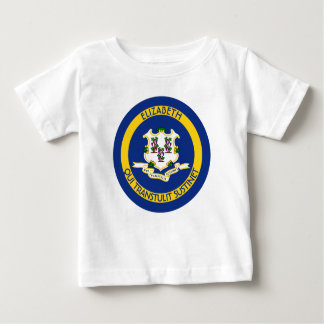 Connecticut The Constitution State Personal Flag Baby T-Shirt
