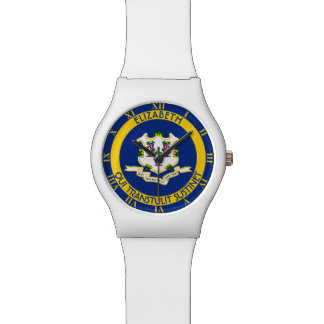 Connecticut The Constitution State Personal Flag Wristwatches