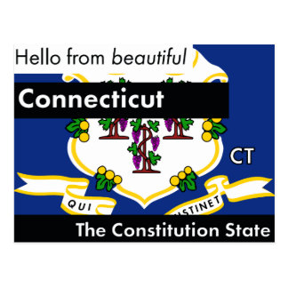 Connecticut The Constitution State Postcard