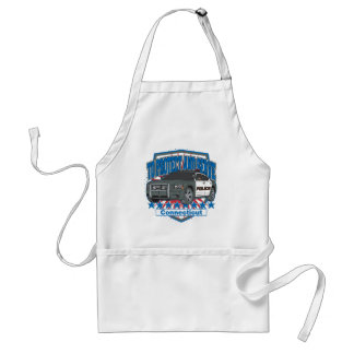 Connecticut To Protect and Serve Police Car Adult Apron