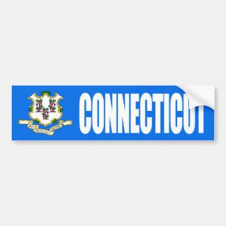 Connecticut US Flag Bumper Sticker
